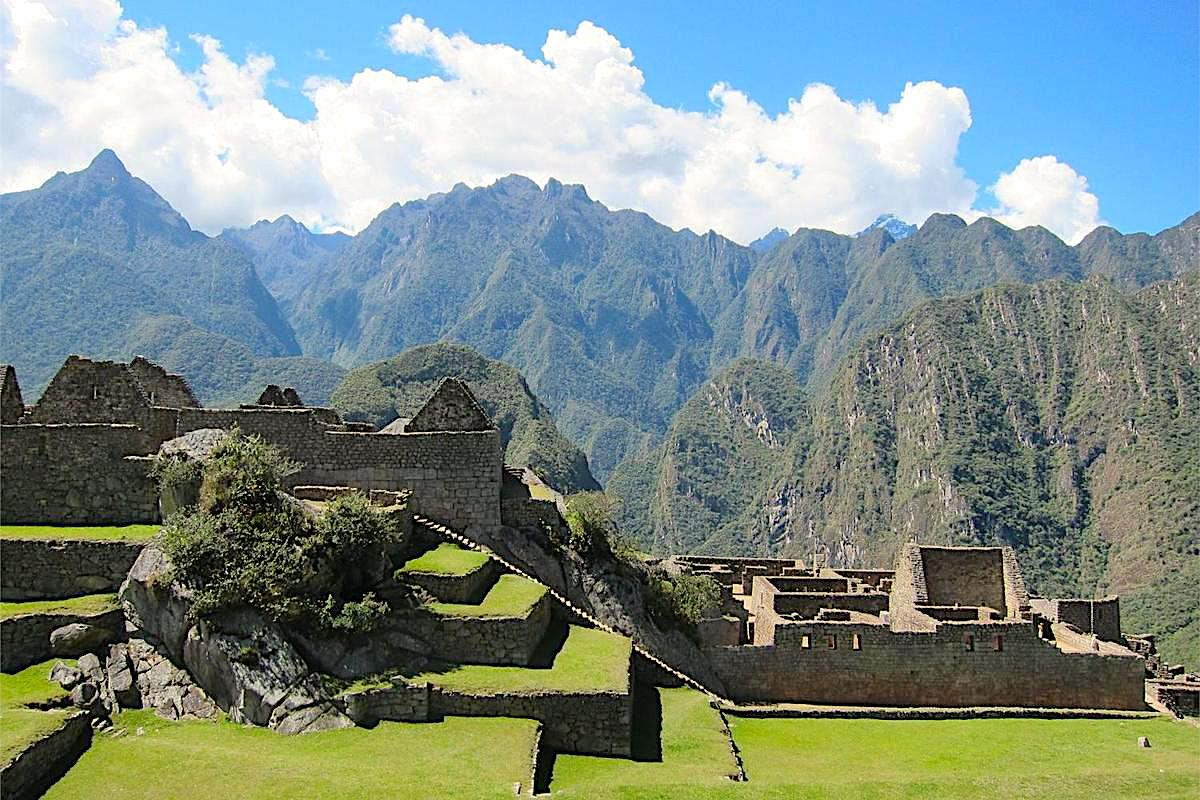 Machu Picchu is a stunning Inca citadel above the jungle, built around 1450